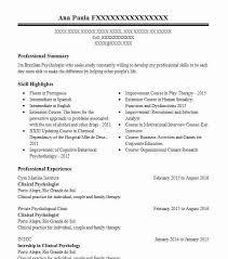 Sample Psychology Resume Clinical Psychologist Resume Sample Livecareer