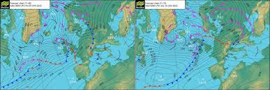 surface pressure charts surface pressure charts showing two rapidly deepening atlantic
