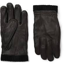 hestrafleece lined full grain leather gloves