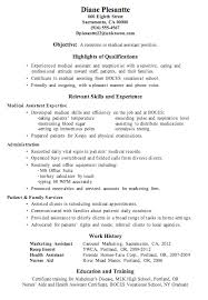 Resume Sample Receptionist Medical Assistant Resume Examples For