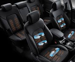 diagram of air circulating though the heated and ventilated seats on the santa fe 2018 suv