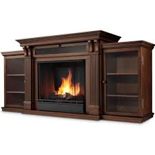 real flame calie tv stand w ventless electric fireplace in dark espresso