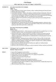 Maintenance Job Resume Building Maintenance Worker Resume Samples Velvet Jobs 10
