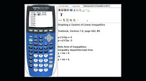 solving system of linear equations calculator math graphing a system of linear inequalities on a ti