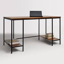 Wood and Metal Williard Extra Long Desk