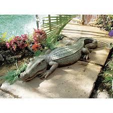 alligator garden decor the swamp beast crocodile garden statue