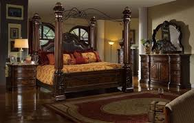 MFB6003 - Giana Brown Solid Wood Canopy Adult Bed