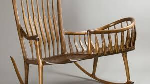 wooden rocking chair. Rocker Cradle, A Combination Rocking Chair And Cradle Wooden W