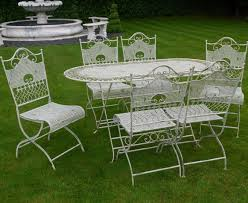 white iron patio furniture. Interior Excellent Metal Garden Furniture 15 Jayden Shab Chic White Wrought Iron Patio Inside The Most