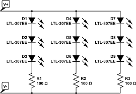 resistors calculating resistance for led strips to use as the embedded resistor value varies for different types of strips led color manufacturer etc schematic