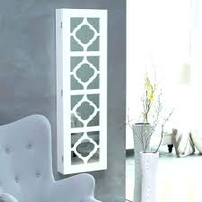 wall mount jewelry armoire mirror mounted box over the door with
