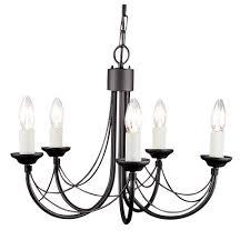 elstead cb5 black carisbrooke 5 light black chandelier wfvwnlz