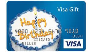 visa prepaid happy birthday gift card