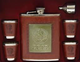 <b>Набор подарочный</b> фляга СССР <b>500</b> мл и 4 стопки