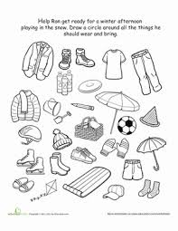 Small Picture Kindergarten Winter Worksheets Free Printables Educationcom