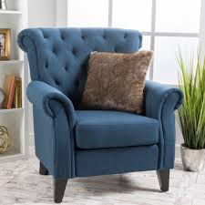 Living Room Furniture Free Shipping Merritt High Back Tufted Fabric Club Chair By Christopher Knight