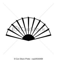 hand fan clipart. open hand fan icon, simple style - icon in. clipart n