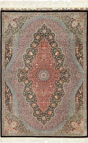 silk black background modern qum persian rug 49422 nazmiyal