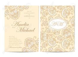 Elegant Wedding Invitation Card Template In Beige Colors Flyer