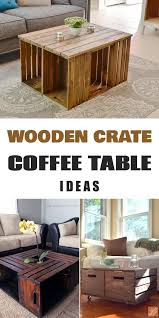 best 25 crate coffee tables ideas on wooden