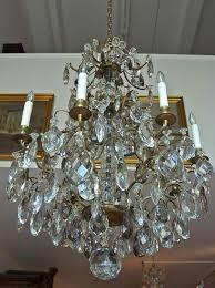 rococo style swedish crystal chandelier with sixteen lights c 1910