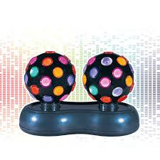 Disco Ball Light Tesco Global Gizmos 4 5 Inch Twin Roatating Disco Ball Light Multi Coloured