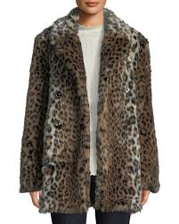 tiaret faux fur snap front coat