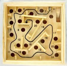 Wooden Games For Adults 100x100cm 100 Stage Wooden Maze Handheld Puzzel Ball Wood Maze Game 14