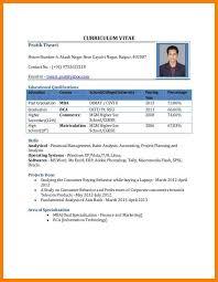 Student Cv Sample Pdf Cv Resume Pdf Download Cv Format For Mba