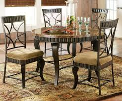 Five Piece Dining Room Sets Black Hamlyn 5 Piece Marble Top 44 Inch Round Dining Room Set