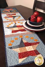 Table Runner Patterns Classy Patchwork Patriotic Table Runner Pattern