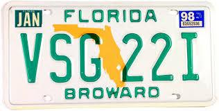 1998 Florida Florida 1998 Plate License