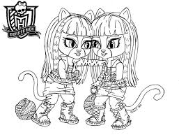 Small Picture Monster High Characters Coloring Pages Cecilymae