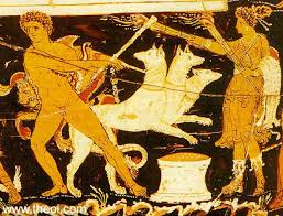 hecate hekate greek goddess of witchcraft magic ghosts heracles cerberus and hecate apulian red figure volute krater c4th b c staatliche