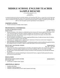 Sample Resume For School Counselor Sample Middle School Teacher Resume High School Guidance Counselor