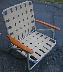 vintage telescope folding chair co lawn beach aluminum webbed camping
