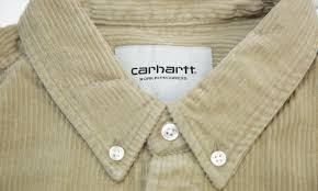 Carhartt Wip Madison Cord Shirt Beige I025247 G1 43einhalb Sneaker Store