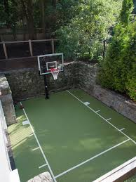 backyard ideas basketball court. this is an example of a traditional backyard outdoor sport court in boston ideas basketball e