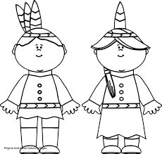 Pilgrim Boy And Girl Coloring Pages Lovely Indian Girl And Pilgrim