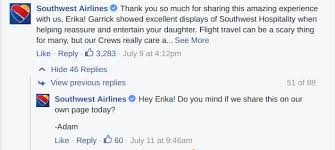 these stories of remarkable customer service will put a smile facebook comments from southwest ldquo