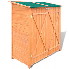 wooden outdoor garden tool shed cabin storage shed house room double door large