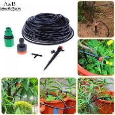 irrigation hose drip irrigation kit 30 adjustable water dripper automatic 25m kit garden watering system irrigation