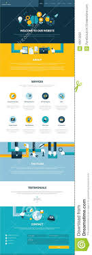 one page website template flat design website template