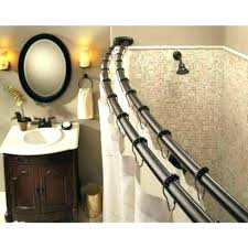 curved shower rods double curved shower rod curved shower curtain rod tension mount