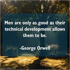 George Orwell Quote Chimps