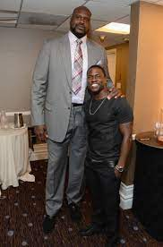 Shaquille O'Neal with Kevin Hart ...