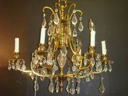 image of antique crystal chandelier parts