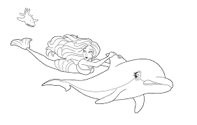 Coloring Pages Of Mermaids And Dolphins Dolphin Tale Coloring Pages