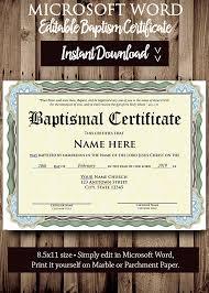 Certificado De Bautismo Template Plantilla De Bautismo Certificado Plantilla Archivo Editable De Microsoft Word Certificado Imprimible Descarga Inmediata