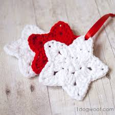 Crochet Star Pattern New Crochet Star Ornament Pattern One Dog Woof